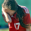 Bridgeport's Natalie Prater reacts after her team's loss to Sissonville in the AA/A state Soccer Championship game on Saturday in Beckley. F. Brian Ferguson/The Register-Herald