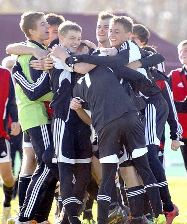 Pikeview's celebrated their win over East Fairmont during the AA/A Boys Stae Soccer Championship game on Saturday in Beckley. F. Brian Ferguson/The Register-Herald