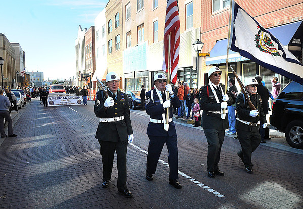 Beckley Veterans Day Parade on Neville Street uptown Beckley.<br /> Rick Barbero/The Register-Herald