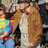 Truman Sayre, WWll Veteran, salutes veterans in the Beckley Veterans Day Parade on Neville Street.<br /> Rick Barbero/The Register-Herald