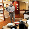 Jeff Diehl stands with some of his prized pieces that will be on display on Saturday, as part of his annual Thanksgiving pottery show,at the Beckley Women's Club on Park Avenue in Beckley F. Brian Ferguson/The Register-Herald
