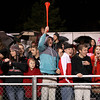 The Oak Hill student section braves the elements during the Red Devils' playoff game at George Washington Friday night.