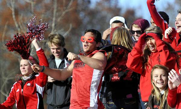 Pikeview's fans got in the spirit as the watched their Panthers win  during the AA/A Boys Stae Soccer Championship game on Saturday in Beckley. F. Brian Ferguson/The Register-Herald