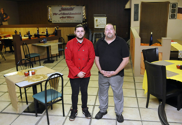 Jonesin' for a Good Sandwich owners Dustin' Jones, left, and Doug Jones, right, as well as Cathy Jones, not pictured have a new location in the Beckley Plaza Mall. F. Brian Ferguson/The Register-Herald
