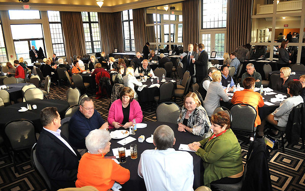 The Spirit of Beckley Kick-Off Breakfast held Tuesday morning in the ball room at Black Knight Country Club.<br /> Rick Barbero/The Register-Herald
