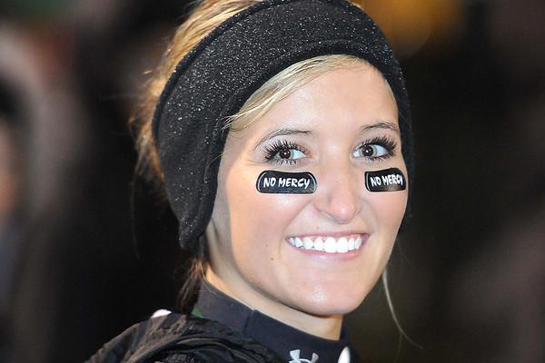 Kaityan Lambert, Wyoming East cheerleader during game against Nicholas Co. at Wyoming East High School.<br /> Rick Barbero/The Register-Herald