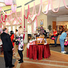 The longest pink scarf in the world was on display at Tamarack, on Tuesday afternoon, to promote breast cancer awareness. F. Brian Ferguson/The Register-Herald