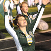 Hope Nash, Greenbrier East Cheerleader, cheers in game against Lincoln County Friday night in Fairlea.<br /> Rick Barbero/The Register-Herald