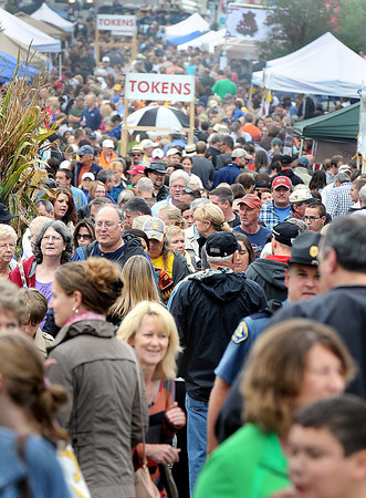 The streets of downtown were filled for the Taste of our Town festival in Lewisburg on Saturday. F. Brian Ferguson/The Register-Herald