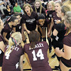The Woodrow Wilson Volleyball team get fired up before their match against Oak Hill during Thursday evening action in Beckley.  F. Brian Ferguson/The Register-Herald