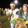 Isaiah Kinder, left, and Haleigh Wise, seniors at Greenbrier East, were announced as King and Queen during halftime in game against Lincoln County Friday night in Fairlea.<br /> Rick Barbero/The Register-Herald