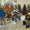 Young and old alike took in the Christmas trees at the United Way Wonderland of Trees on Thursday evening at Lewis Automotive pre-owned superstore on Appalachian Drive. F. Brian Ferguson/The Register-Herald