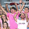 Shady Spring fans get excited during game against Oak Hill Friday night on H.B. Thomas Field at Shady Spring High School<br /> Rick Barbero/The Register-Herald