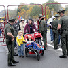 Security was tight as State Police checked any and all visitors to Bridge Day 2013.  F. Brian Ferguson/The Register-Herald