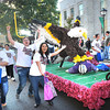 Woodrow Wilson High School sophomore class float coming down Main Street in Beckley during the homecoming parade Monday evening.<br /> Rick Barbero/The Register-Herald