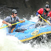 Rafters hit a rapid at pillow rock in the upper Gauley River during the first day of the Gauley season.<br /> Rick Barbero/The Register-Herald