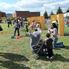 Interactive booths were a big draw during Saturday's School of Harmony Creative Kids Festival in Daniels. F. Brian Ferguson/The Register-Herald