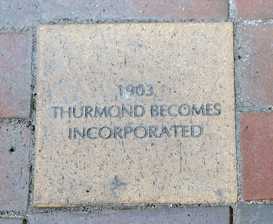 The brick walk leading into the railroad town of Thurmond, in Fayette County, reveals in rich past. F. Brian Ferguson/The Register-Herald