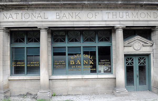 The National Bank of Thurmond failed in 1931 during the Great Depression. F. Brian Ferguson/The Register-Herald