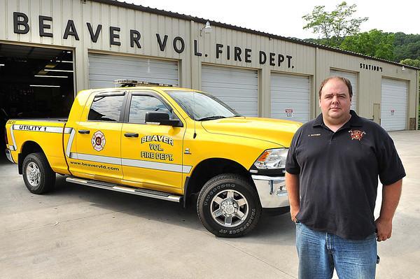 Lt.Chris Hatcher, Beaver Volunteer Fire Department.<br /> Rick Barbero/The Register-Herald