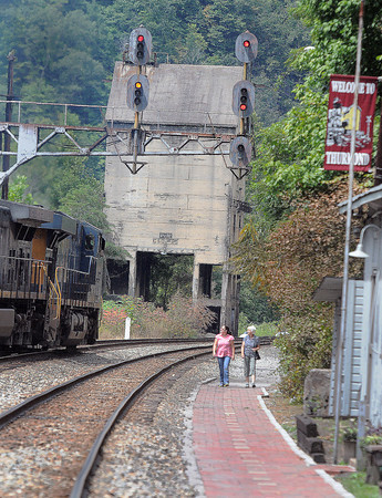 The once prosperous railroad town of Thurmond, in Fayette County, still draws visitors in search of it's historical values . F. Brian Ferguson/The Register-Herald