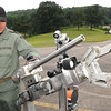 Robot at State Police Academy.<br /> Rick Barbero/The Register-Herald