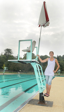 New River Pool Manager Sharon Dempsey stands at a life guard station. F. Brian Ferguson/The Register-Herald