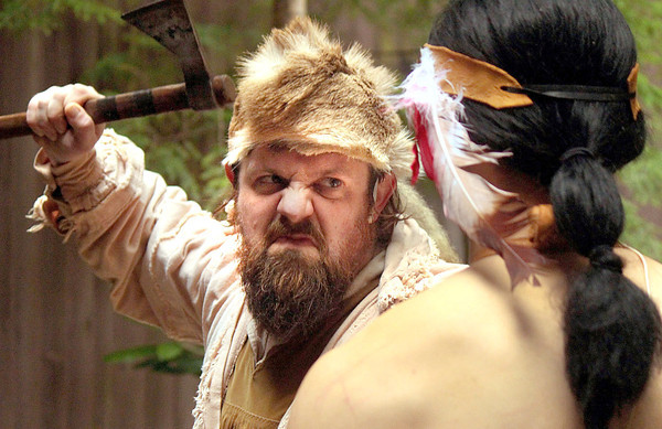 "Submitted photo<br /> Beckley native, actor Lew Whitener, in a scene from the Cherokee, N.C. drama, ""Unto These Hill."" in which he has performed the past two summer seasons."