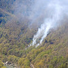 The new River Gorge fire continues to blaze on Wednesday afternoon as seen from the Beauty Mountain Trail F. Brian Ferguson/The Register-Herald