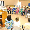 Rocco Massey, ceo BARH, speaks to a group of Personal Care Assistants who took advantage of an employer-offered program at BARH to increase their skill levels in becoming nursing assistants. Graduates are (from left): James Lilly, Dylan Mills, Becky Mills, James Mitchell, Kristian Taylor, Jordan Trent and Kristal Whitt.<br /> Rick Barbero/The Register-Herald