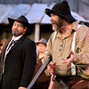 Brad Davis/The Register-Herald<br /> Jim Vance, played by Bob Athey, performs during a scene from Theatre West Virginia's Hatfields and McCoys July 25 at Grandview Park's Cliffside Amphitheatre.