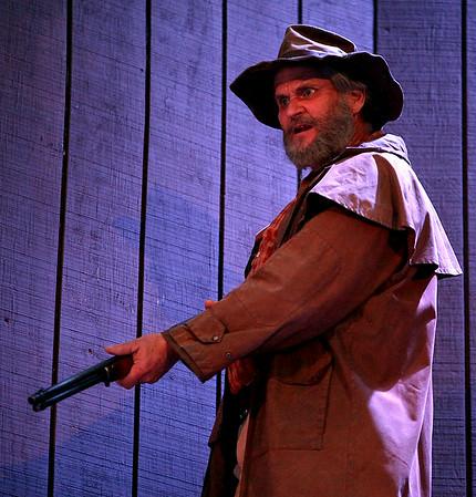 Andy Woodruff as Devil Anse Hatfield. Theatre West Virginia's Hatfields and McCoys at Grandview Park's Cliffside Amphitheatre July 25.<br /> Brad Davis/The Register-Herald