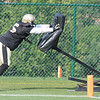 Tyrunn Walker doing a drill during the New Orleans Saints practice Tuesday morning at The Greenbrier Resort.<br /> Rick Barbero/The Register-Herald