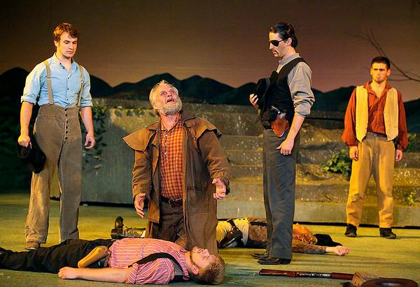 Theatre West Virginia's Hatfields and McCoys at Grandview Park's Cliffside Amphitheatre July 25.<br /> Brad Davis/The Register-Herald
