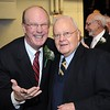 Rick Barbero/The Register-Herald<br /> Charlie Houck, left, with Dr. Dick Daniels, during the Spirit of Beckley Community Service Award Banquet held at the Beckley-Raleigh County Convention Center Monday night.