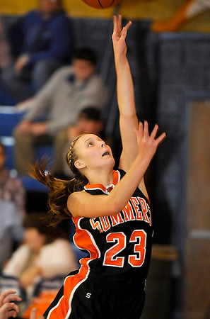 Brad Davis/The Register-Herald<br /> Summers County's Brittney Justice scores during a game at Shady Spring December 4.