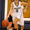 Brad Davis/The Register-Herald<br /> Shady Spring's Kelsea Collins dribbles the ball during a home game against Summers County December 3.