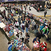 Brad Davis/The Register-Herald<br /> Hundreds of shoppers and volunteers buzz around the floor area of the Beckley-Raleigh County Convention Center Saturday morning during another successful Mac's Toy Fund Party.