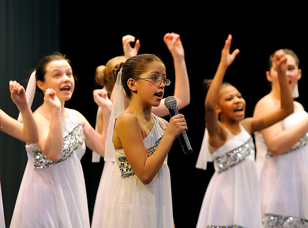 """Brad Davis/The Register-Herald<br /> Young members of Karen's Academy of Dance perform during the company's winter recital """"No Ordinary Night"""" Sunday evening in the Woodrow Wilson High School Auditorium."""