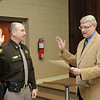 Mayor Bill O'Brien swore in Lonnie Christian as Police Chief this morning following last night's confirmation hearing by the Beckley Common Council.<br /> Rick Barbero/The Register-Herald