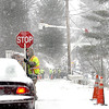 Crews with Appalachian Power worked to restore power to customers on Glen Jean Hill, in Fayette County during Monday morning's Artic Blast.  F. Brian Ferguson/The Register-Herald