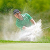 Patrick Cantlay chips from a bunker onto the green at 17 during the final round of the Greenbrier Classic Sunday in White Sulphur Springs.<br /> Brad Davis/The Register-Herald