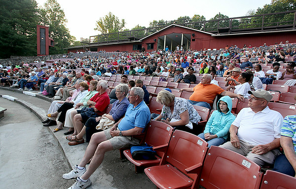 Over 400 people showed up for Theatre West Virginia's opening night performance of the Hatfields & McCoys Friday night at Grandview Park's Cliffside Amphitheatre.<br /> Brad Davis/The Register-Herald