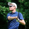 Austin Root watches his drive during the West Virginia Open Pro-Am Monday afternoon at Glade Springs Resort's Cobb golf course.<br /> Brad Davis/The Register-Herald
