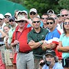 Crowd watches a hit by Angel Cabrera  during the final round of The Greenbrier Classic<br /> Rick Barbero/The Register-Herald