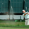 Steve Stricker chips onto the green at 17 during the final round of the Greenbrier Classic Sunday in White Sulphur Springs.<br /> Brad Davis/The Register-Herald