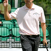 George McNeill waves to the crowd after sinking a putt on 16 during the final round of the Greenbrier Classic Sunday in White Sulphur Springs.<br /> Brad Davis/The Register-Herald