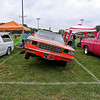 An '85 Chevy stands out as it stands propped up by its custom hydrolics system during the 11th Annual Friends of Coal Auto Fair Saturday afternoon the YMCA Paul Cline Memorial Youth Sports Complex.<br /> Brad Davis/The Register-Herald