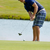 Daniels resident Don Jones putts on #2 during the second day of BNI tournament action Sunday morning at Grandview Country Club.<br /> Brad Davis/The Register-Herald
