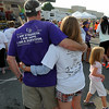 Cancer Survivors joined with family and caregivers for Friday evening's Relay for Life walk around the Crossroads Mall. F. Brian Ferguson/The Register-Herald